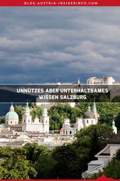 """Das Buch oder besser Büchlein mit dem Titel """"Unnützes Salzburg Wissen"""" liefert sehr interessante und unterhaltsame Einblicke in die Mozartstadt Salzburg. Es liefert dabei Fun Facts auch abseits von Mozart und den Festspielen. Austria, Movies, Movie Posters, Travel, Haunted Forest, Good Books, Ruins, Road Trip Destinations, Alps"""
