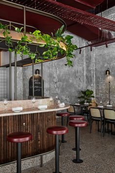 Pentolina Italian Restaurant & Bar in Melbourne's CBD by Biasol Cafe Restaurant, Restaurant Design, Architecture Restaurant, Industrial Restaurant, Modern Restaurant, Cafe Interior Design, Cafe Design, Caffe Bar, Melbourne