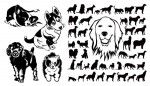 dog cut outs