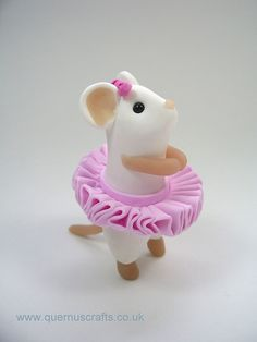 Ballerina Mouse by QuernusCrafts, via Flickr: