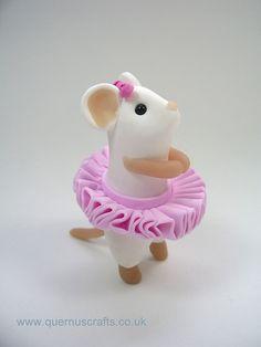 Ballerina Mouse by QuernusCrafts, via Flickr: