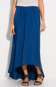 Asymmetrical Circle Hem Maxi Skirt