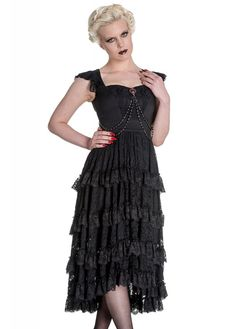 This would make a gorgeous black wedding dress! Spin Doctor Ophelia Dress from Attitude Extreme