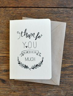 Messy Thank You Greeting Card by AnAprilIdea on Etsy, $6.00