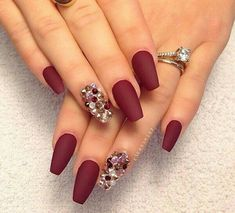 Jewel Tones - These NYE Nail Ideas Will Have You Shining Like the Crazy Diamond You Are - Photos