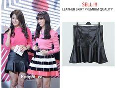 Gyuri's KARA Leather Skirt Premium Quality | Korean Fashion http://www.tokopedia.com/makmurjaya88/leather-skirt-rok-kulit-premium-quality