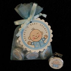 Personalized Hershey Kiss Baby Shower Favor Set baby by susiedees, $37.50