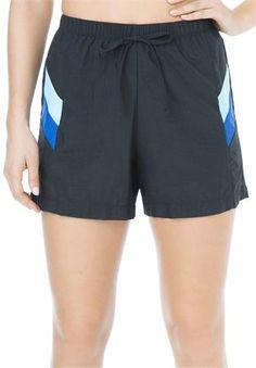 Plus Size Swimsuit, board shorts in Taslon® #swimshort #womanwithin