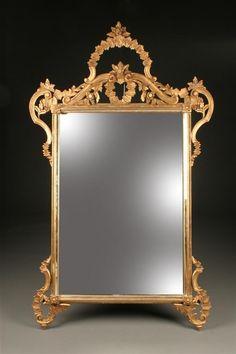 Ornate décoratif meubles miroir//moulures Résine Gold Ornate Leafs