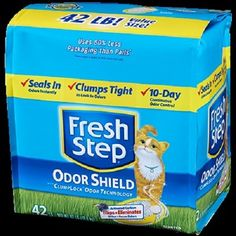 FRESH STEP CAT LITTER 261345 Fresh Step Odor Shield Scoop for cats, 42-Pound -- See this great image  : Cat litter