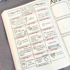 """439 Likes, 15 Comments - BuJo_Blossoms  (@bujo_blossoms) on Instagram: """"Taking stock page for April  . . Poor lighting = poor quality photo  . . . . . . . #bujo…"""""""