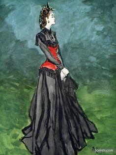 Henri Bendel 1942 Evening Gown, Eric (Carl Erickson)