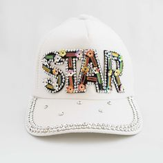 The I'm a Star Princess Trucker Cap Complete Outfits, Girl Fashion, Fashion Design, Rainbow Colors, Crystal Beads, Little Girls, Luxury Fashion, Baseball Hats, Handmade Jewelry