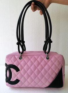 98e70626fa Catawiki, pagina di aste on line Chanel - Cambon Pink and Black Quilted  Leather Borsa