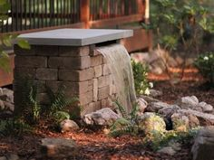 Get easy, step-by-step instructions for creating a classy stone water feature to add to your landscape at HGTV Gardens.