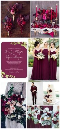 Deep berry hues wedding inspiration with wedding invitations from @shutterfly #Shutterfly #ShutterflyWeddings