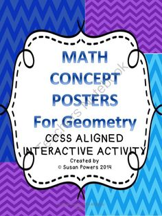 Develop Math Thinkers -Math Concept Assessment for Geometry from Cool Teaching Tools on TeachersNotebook.com -  (18 pages)  - Create Critical Thinkers! This fun, printable packet is designed as an assessment tool or simply a summary of learning for math concepts, aligned with the CCSS Math Anchor Standards. I have designed this with my 5th graders in mind but it can be adapted f