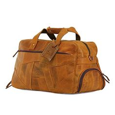 0dc2923360 Rustic Town Cuir traditionnel fait main de qualité supérieure Sac de Voyage  en Cuir Bagage à