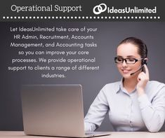 Let IdeasUnlimited take care of your HR Admin, Recruitment, Accounts Management, and Accounting tasks so you can improve your core processes. We provide operational support to clients with a range of different industries. Take Care Of Yourself, Improve Yourself, Accounting, Finance, Core, Management, Range, Good Things, Let It Be
