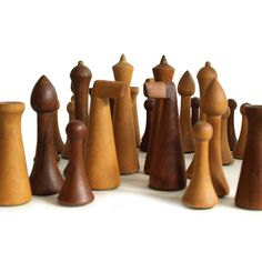 Herman Ohme wood chess pieces