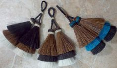 TRIPLED layered horse hair tassels : 4 1/2 inch by Knotatail