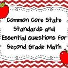 This is a colorful set of common core state standard math posters and essential questions.  These would be great to use on a focus board as a visua...