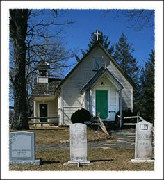 """Holy Trinity Church, Glendale Springs, NC.  Located off the Blue Ridge Parkway, this small church has a frescoe of the """"Lord's Supper"""" painted by Ben Long.  Well worth a visit."""
