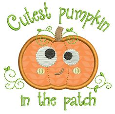 Hey, I found this really awesome Etsy listing at https://www.etsy.com/listing/203438169/pumpkin-applique-embroidery-design-cute