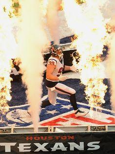 Despite some offseason surgery, Houston Texans DE JJ Watt welcomes back football as only he could. Epic. (AP/Bridges)