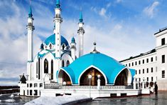 Qolsharif Mosque, Russia    The Qolşärif mosque located in Kazan Kremlin was the largest mosque in RussiaIt is believed that the building featured minarets, both in the form of cupolas and tents.