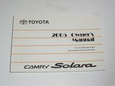 2011 toyota camry owners manual book guide owners manuals pinterest 2005 toyota camry solara owners manual book guide fandeluxe Gallery