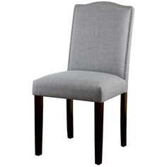 Skyline Dining Chair: Threshold Camelot Nailhead Dining Chair - Dove... ($85) ❤ liked on Polyvore