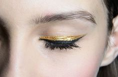 A glint of gold is a quick way to liven up any look. If I'm feeling a little tired or under the weather, a slick of black eyeliner does me no favours whereas gold on the other hand, is perfect. It brightens my makeup! My favourite brand is Eyeko; the Rose Gold smudge proof liquid eyeliner is unbeatable.