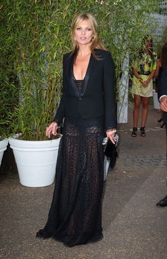 Mr. Blasberg's Best-Dressed List: Kate Moss in Saint Laurent Photo Credit: Mike Marsland/Wire Image