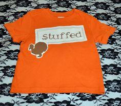 Stuffed Turkey Thanksgiving Shirt, Unisex Size 24 M, FREE SHIPPING. $12.00, via Etsy.