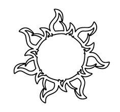 Tangled Corona Sun - Tattoo by EvgeniyaYekaterina