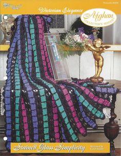 Crochet Stripe Victorian Afghan Pattern by KnitKnacksCreations