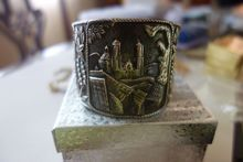 FRED DAVIS Mexican Sterling Silver Cuff Bracelet from Old Curiosity Shop Exclusively on Ruby Lane