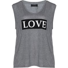 Carmakoma Grey / Mottled Plus Size Jersey 'Love' T-shirt (130 BRL) ❤ liked on Polyvore featuring tops, t-shirts, shirts, tank tops, plus size, grey, grey v neck t shirt, fitted shirts, v neck tee and v neck shirt