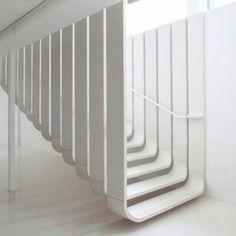 Floating straircase by Zaha Hadid