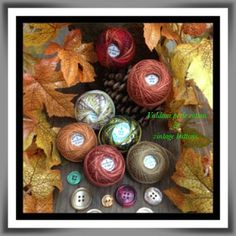 The Piney Woods Tatter: Some of my favorite Valdani pearl cotton in lovely Autumn colors.