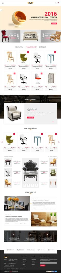 Stuff is beautifully design responsive 7in1 #HTML5 bootstrap #template for multipurpose #eCommerce websites download now➩ https://themeforest.net/item/stuff-ecommerce-furniture-template/19229599?ref=Datasata