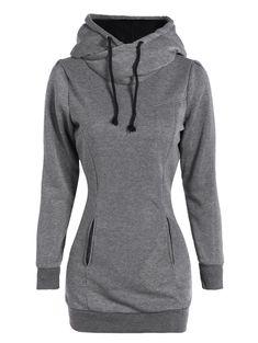 Slim Pockets Design Pullover Hoodie
