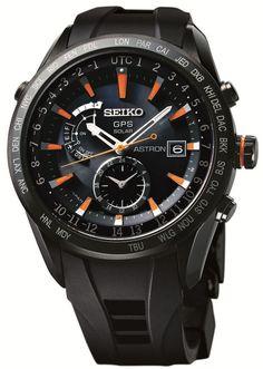Seiko Astron Watch GPS Solar Watch #bezel-fixed #bracelet-strap-rubber…