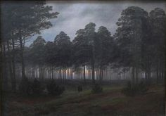 Caspar David Friedrich - Evening [2211x1550]