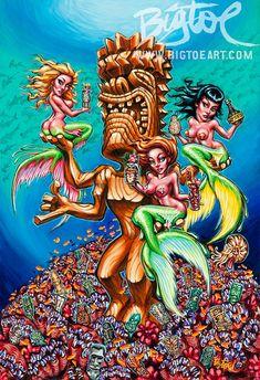 BigToe's Mondo Tiki limited edition archival art by BigToeArt