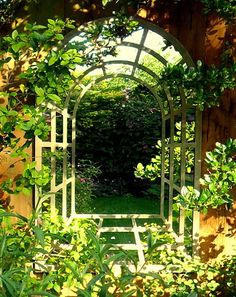 Love The Idea Of Mirrors Hanging In The Garden.