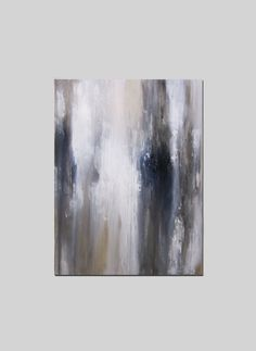 40 x 30 Abstract Painting White Gold Black by ArtByCornelia