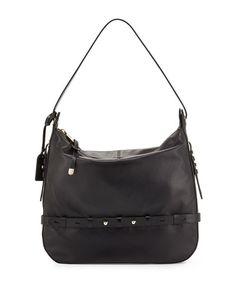 Badgley Mischka Lauren Leather Hobo Bag 29f3cddf7ead3