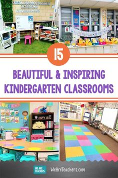 Need a school room makeover for you and your students? Check out this list of inspiring kindergarten classrooms for inspiration. #kindergarten #classroom #classroomideas #classroomsetup #supplies #teaching #teacher #classroomdecor Kindergarten Classroom, Classroom Activities, Classroom Setup, Learning Environments, Student Work, Early Learning, School Supplies, Lesson Plans, Students